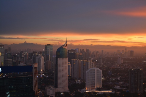 Jakarta from a 63rd floor